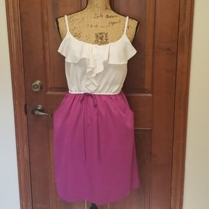 ELLE M pink and cream pocket adjustable dress